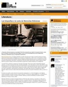 El Club Express - Las biografías a la carta de Memorias Ediciones