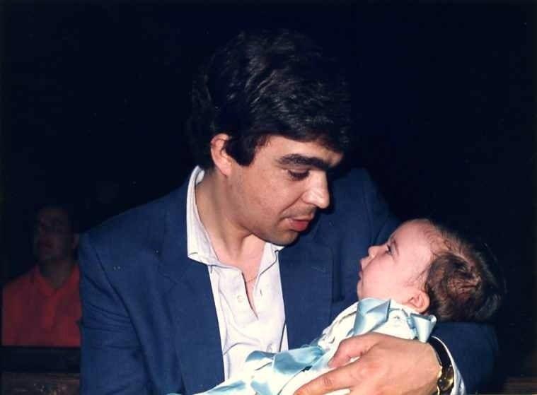 Javier Aranceta bautizo de su hijo