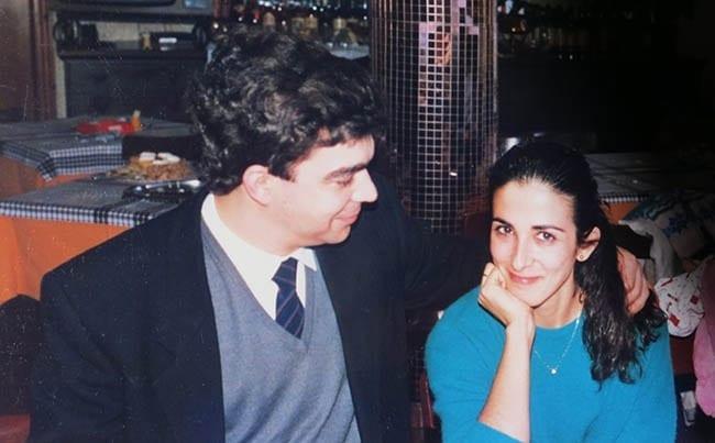 Javier Aranceta y Yolando en los 80s